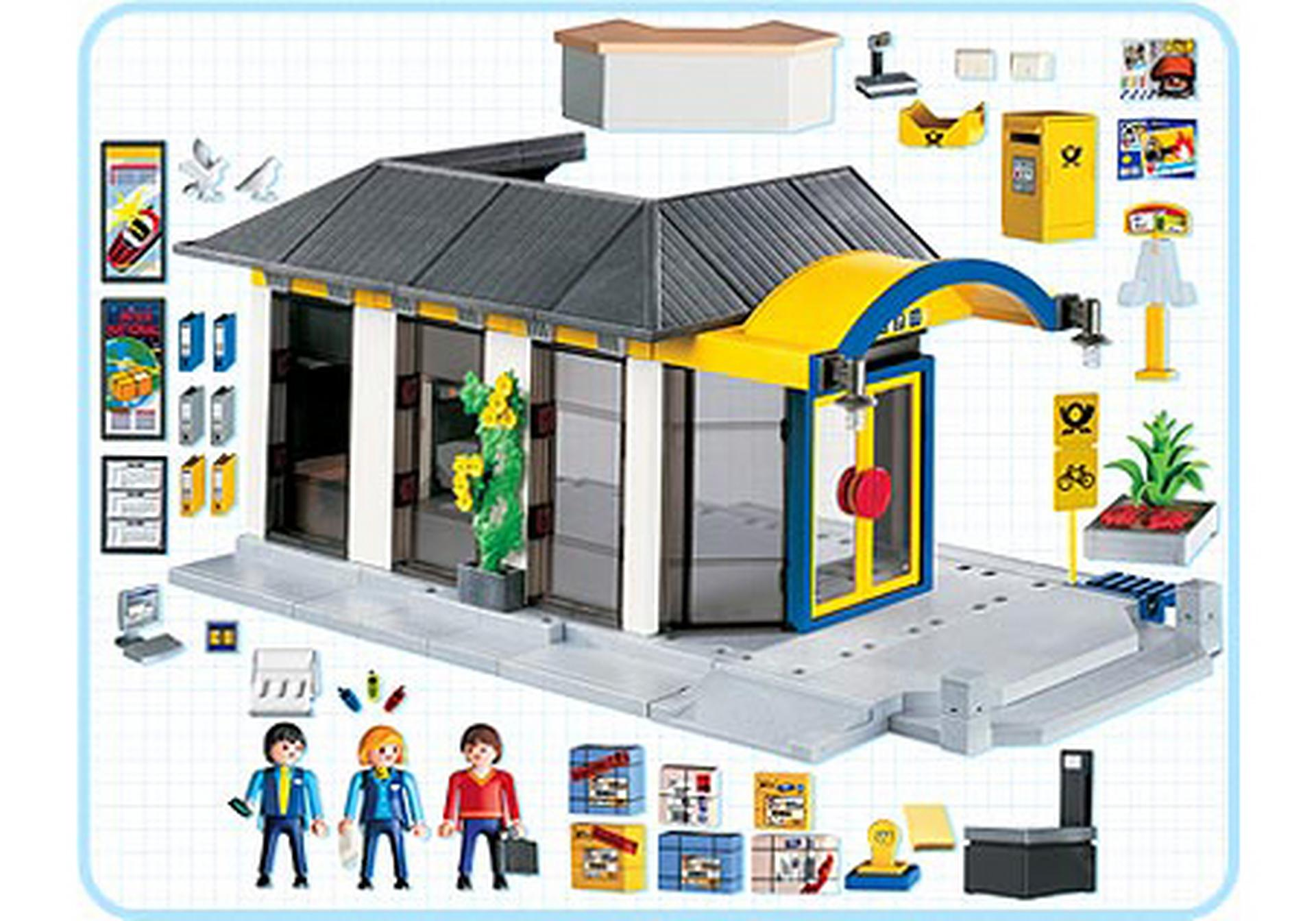 bureau de poste 4400 a playmobil suisse. Black Bedroom Furniture Sets. Home Design Ideas