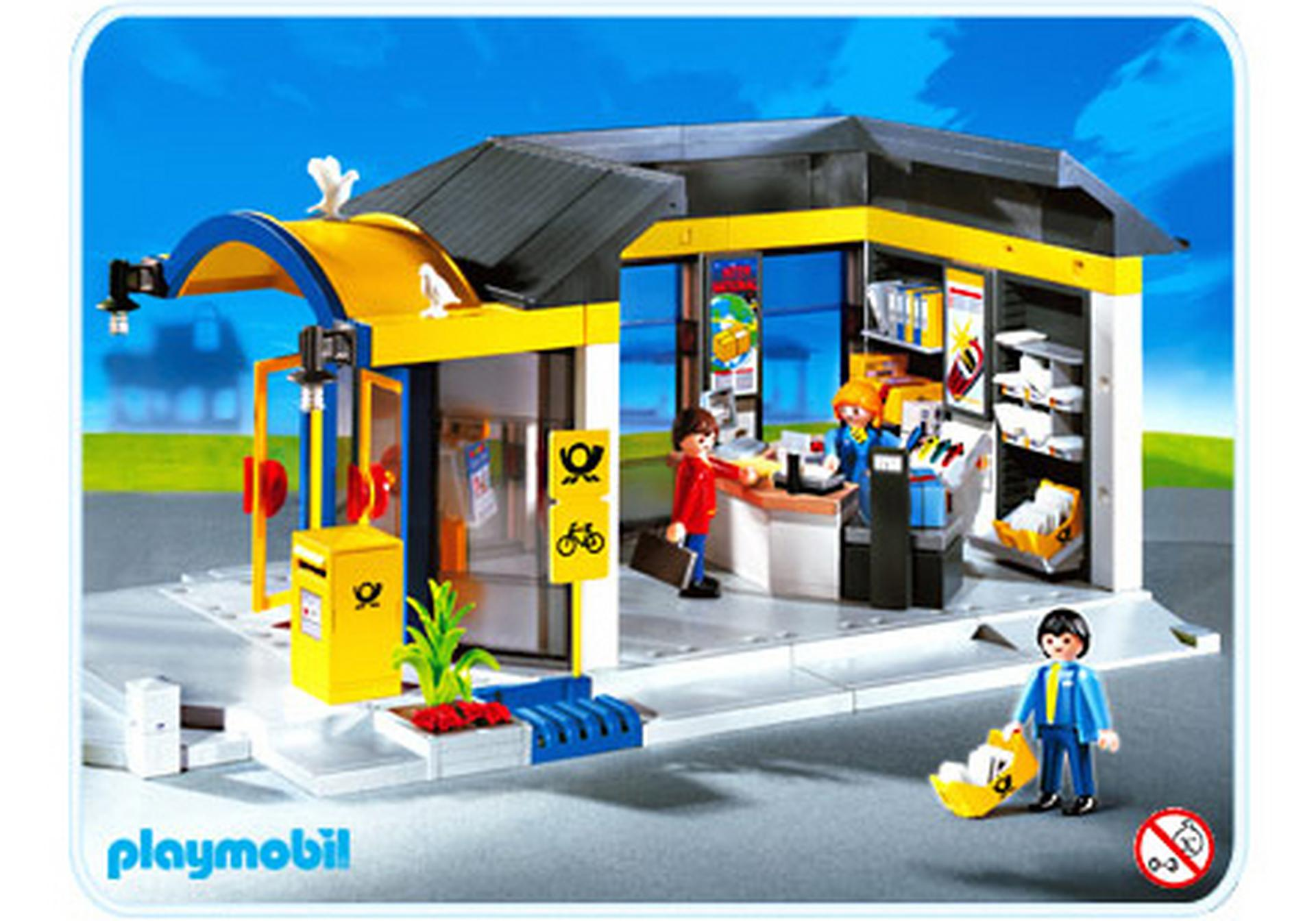bureau de poste 4400 a playmobil france. Black Bedroom Furniture Sets. Home Design Ideas