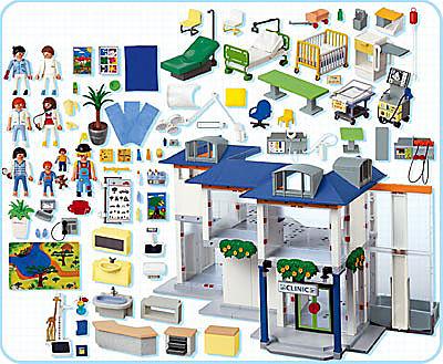 4404-A Großes Krankenhaus mit Einrichtung detail image 2