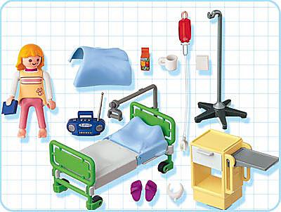 http://media.playmobil.com/i/playmobil/4405-A_product_box_back/Patient / chambre d'hôpital