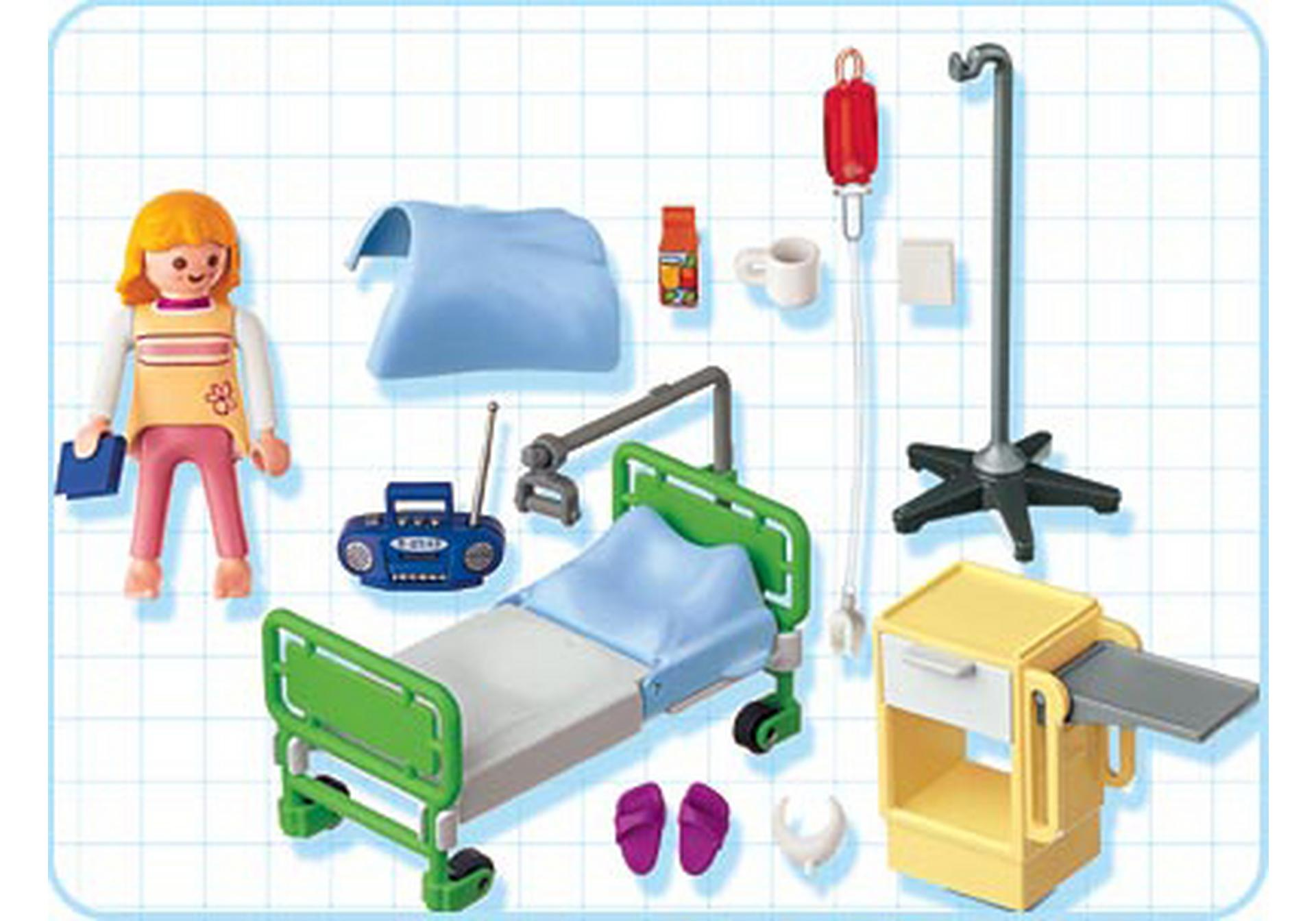 Patient chambre d 39 h pital 4405 a playmobil france for Chambre d hopital