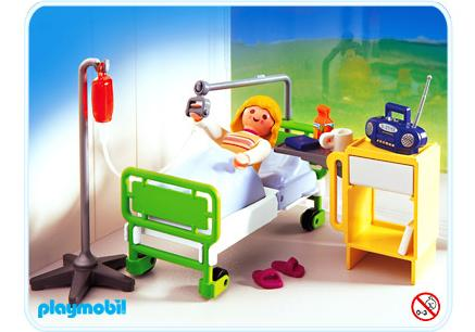 http://media.playmobil.com/i/playmobil/4405-A_product_detail/Patient / chambre d'hôpital