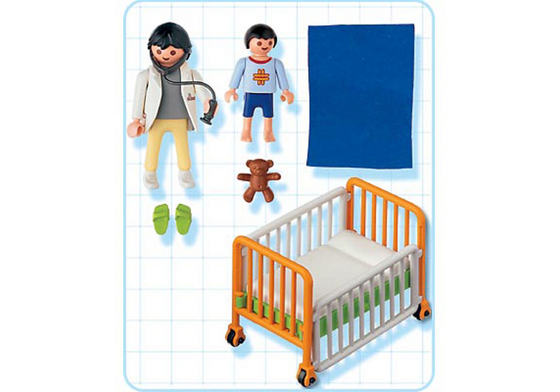 4406-A Médecin / enfant / lit d'hôpital zoom image2