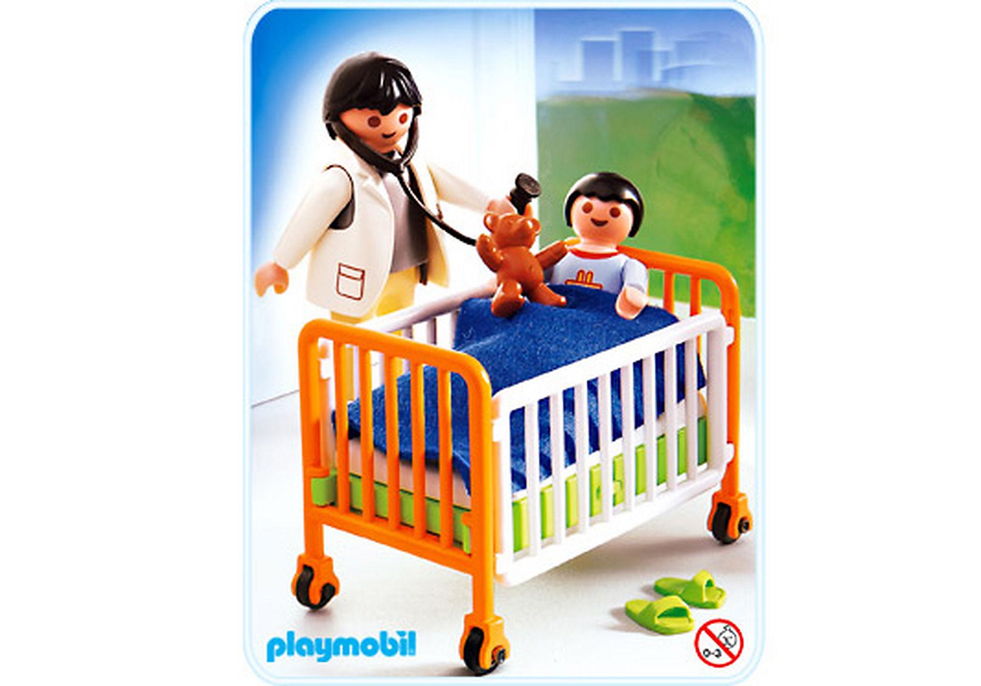 http://media.playmobil.com/i/playmobil/4406-A_product_detail/Médecin / enfant / lit d'hôpital
