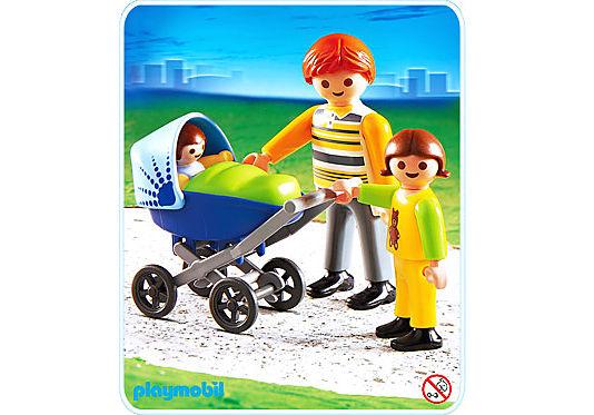 4408-A Papa mit Kinderwagen detail image 1