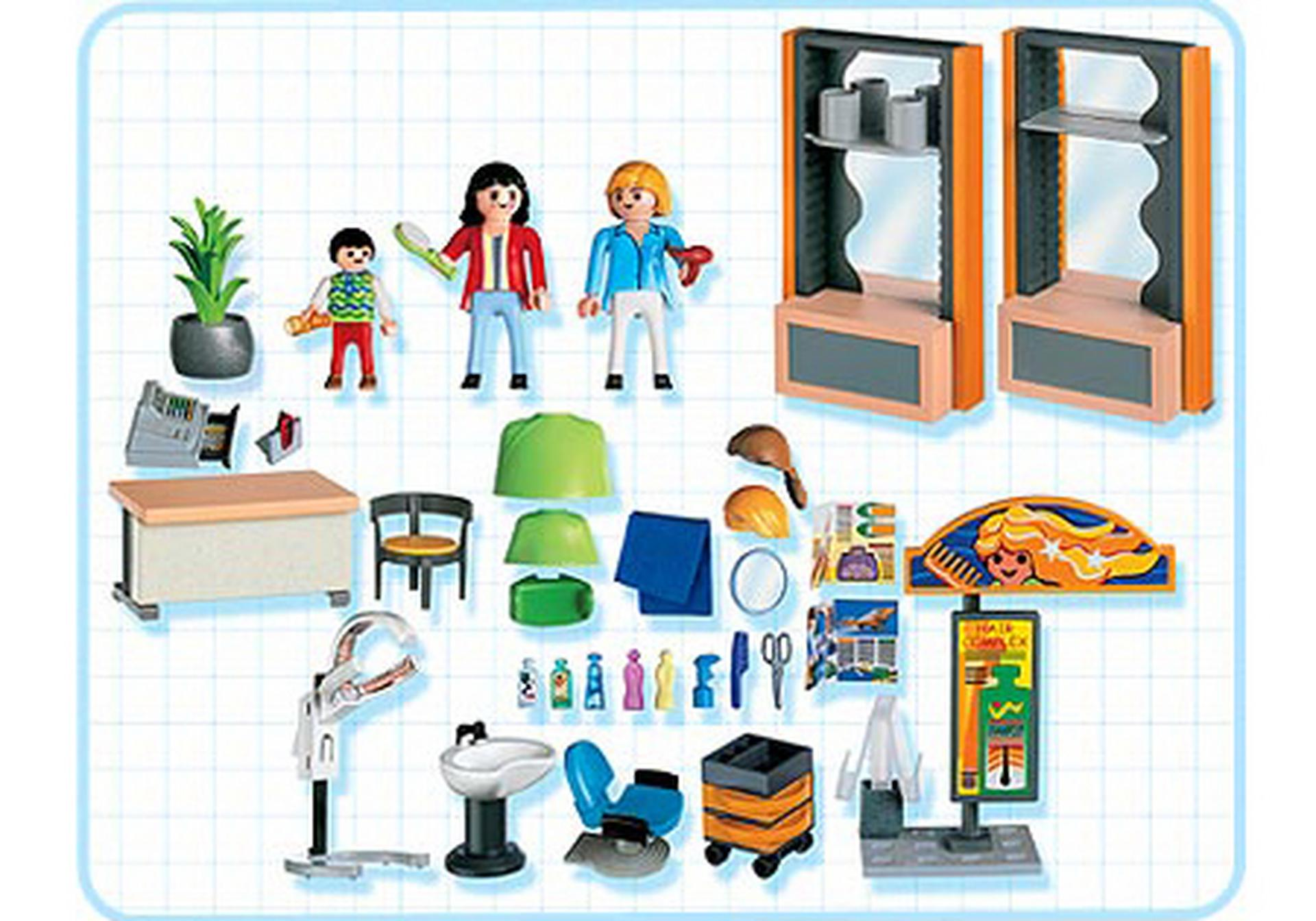 coiffeuse salon de coiffure 4413 a playmobil france