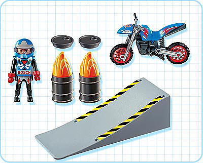 4416-A Motocross-Fahrer mit Rampe detail image 2