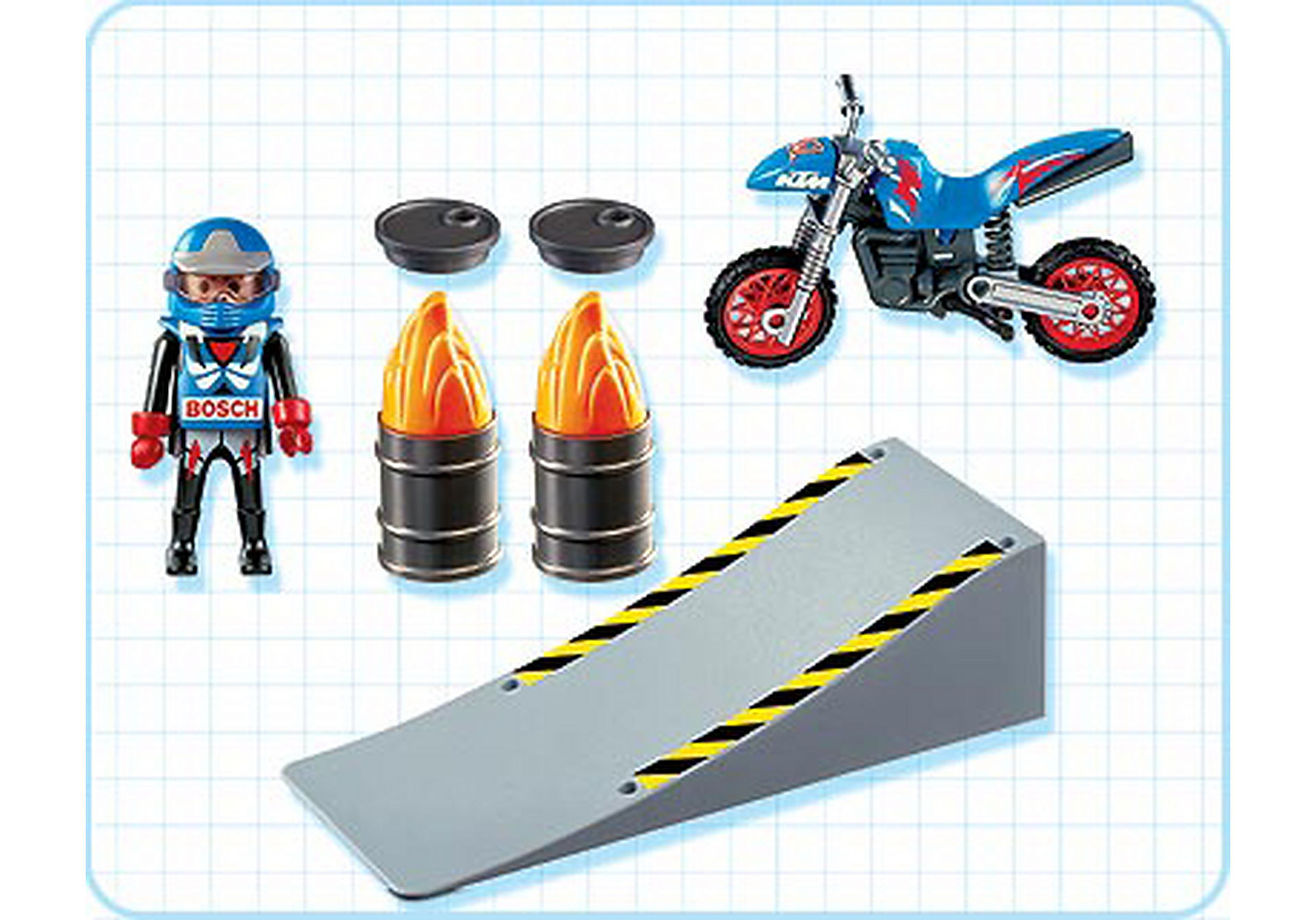 4416-A Motocross-Fahrer mit Rampe zoom image2