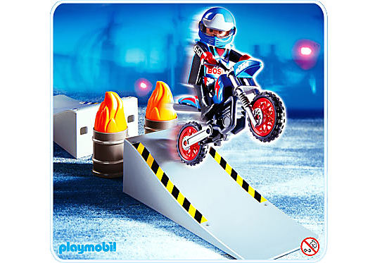 4416-A Motocross-Fahrer mit Rampe detail image 1