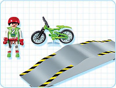 4417-A Mountainbiker mit Wellenrampe detail image 2