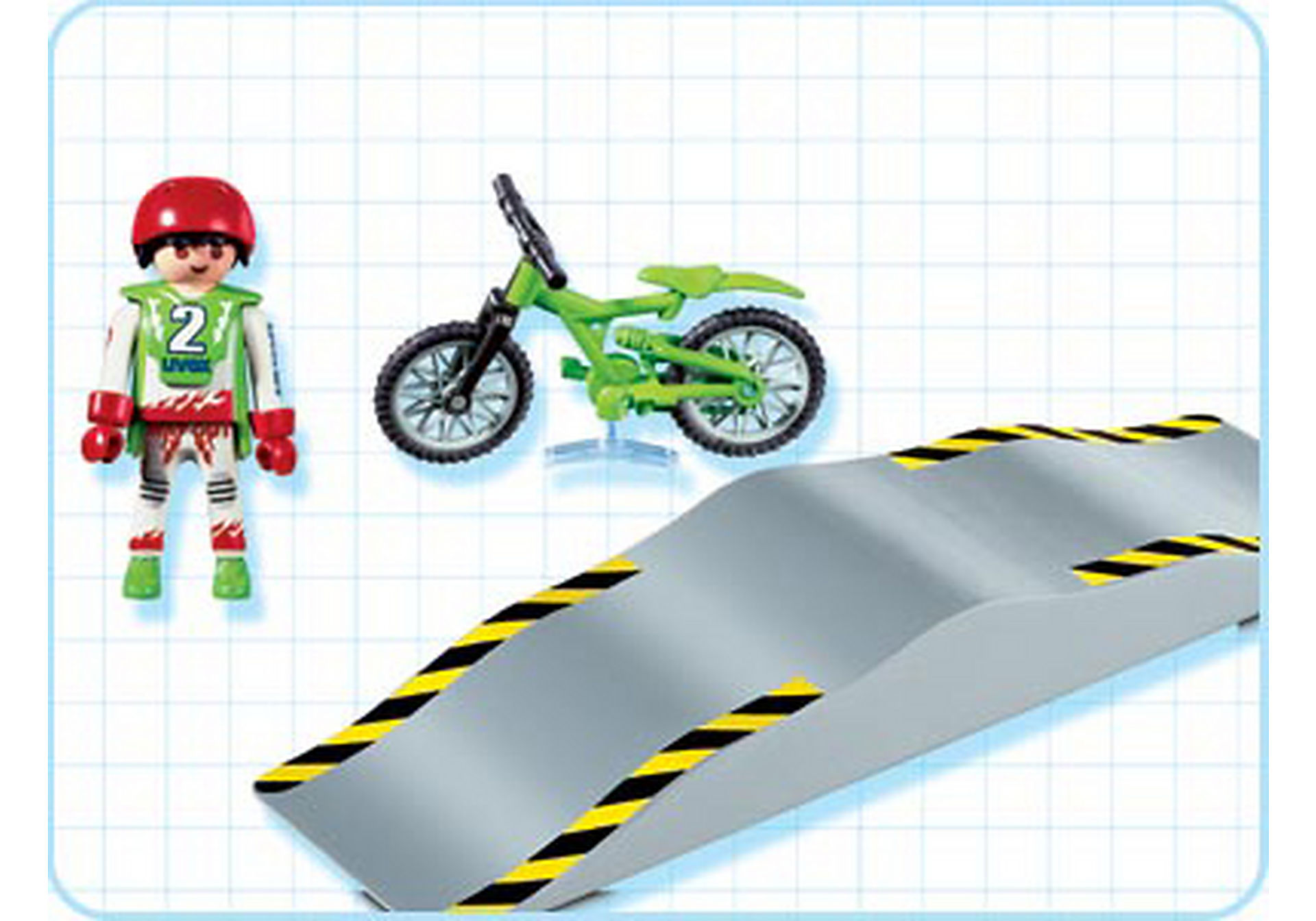 4417-A Mountainbiker mit Wellenrampe zoom image2