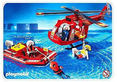 4428-A Sauveteurs / hélicoptère / bateau pneumatique (3)