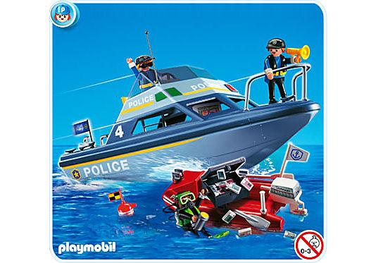 4429-A Vedette de police et bateau de bandit detail image 1