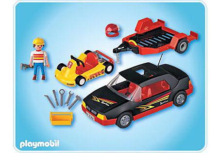 4442-A Voiture de sport avec kart detail image 2