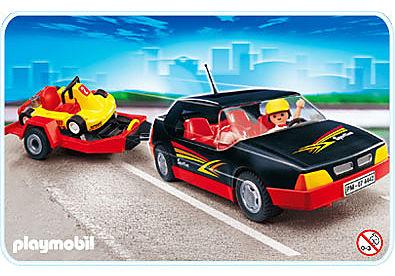 4442-A Voiture de sport avec kart detail image 1
