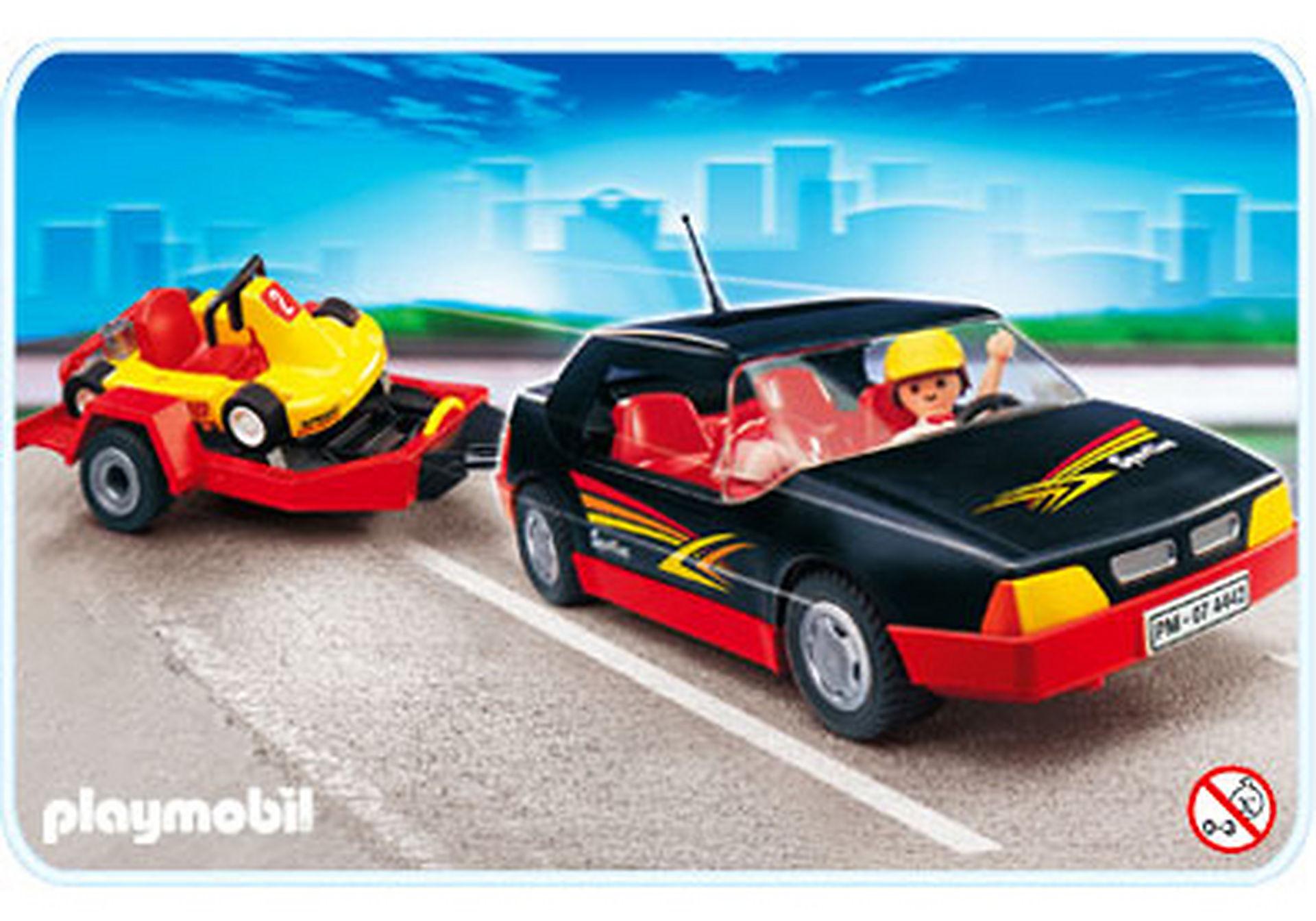 4442-A Voiture de sport avec kart zoom image1