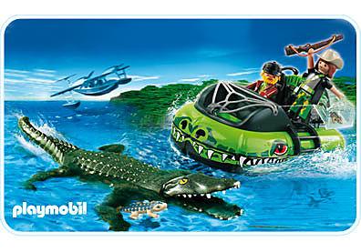 http://media.playmobil.com/i/playmobil/4446-A_product_detail/Braconniers et aéroglisseur avec alligator