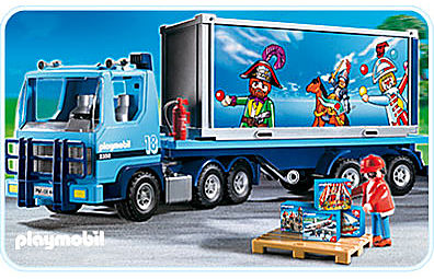4447-A PLAYMOBIL-Container-Truck detail image 1