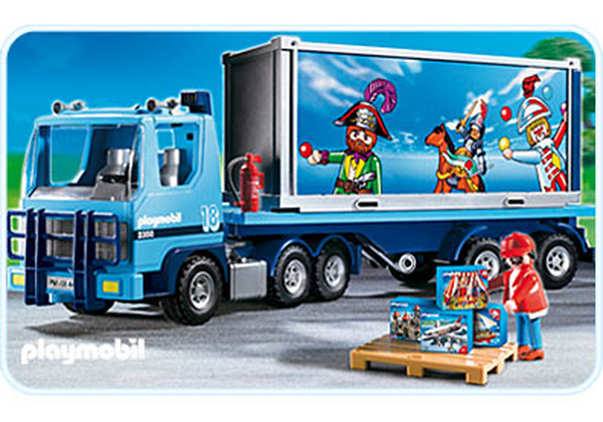 4447-A PLAYMOBIL-Container-Truck zoom image1