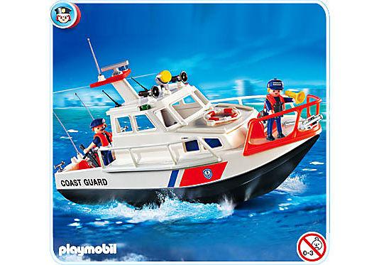 4448-A Gardes-côte et bateau detail image 1