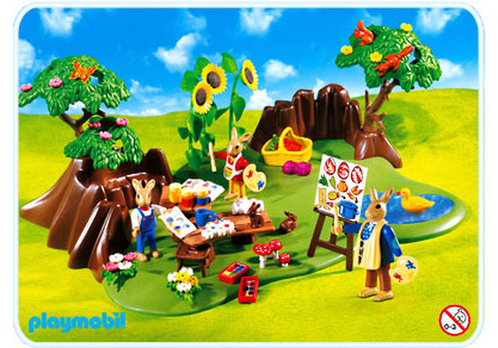 4450-A Famille Lapin atelier de peinture zoom image1