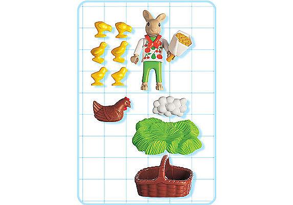 4452-A Osterhäschen mit Huhn und Kükenschar detail image 2