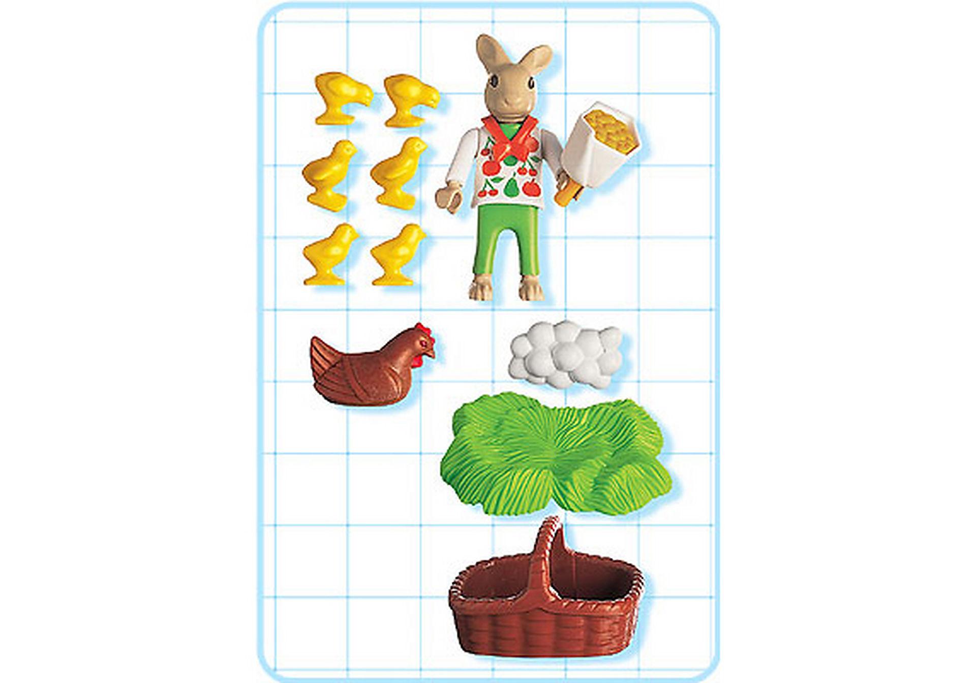4452-A Osterhäschen mit Huhn und Kükenschar zoom image2