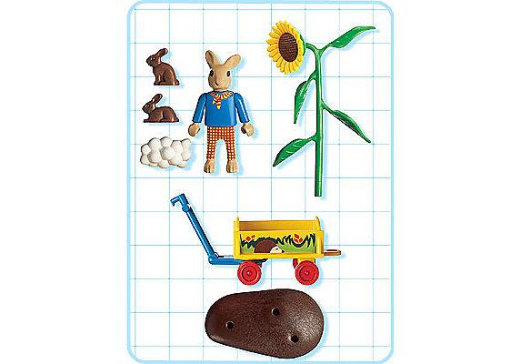 4453-A Enfant Lapin avec chariot detail image 2