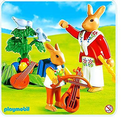 4456-A Lapins / leçon de musique detail image 1