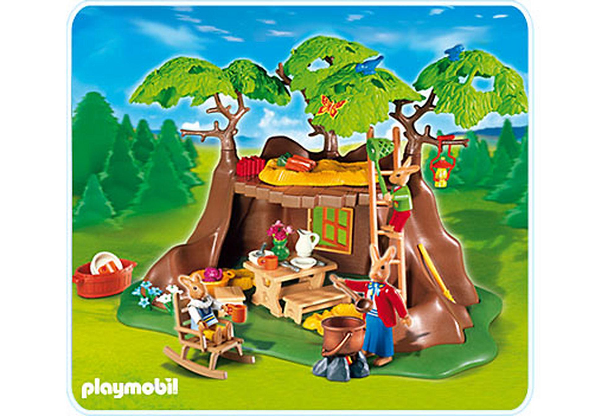4460-A Famille de lapins et maison zoom image1