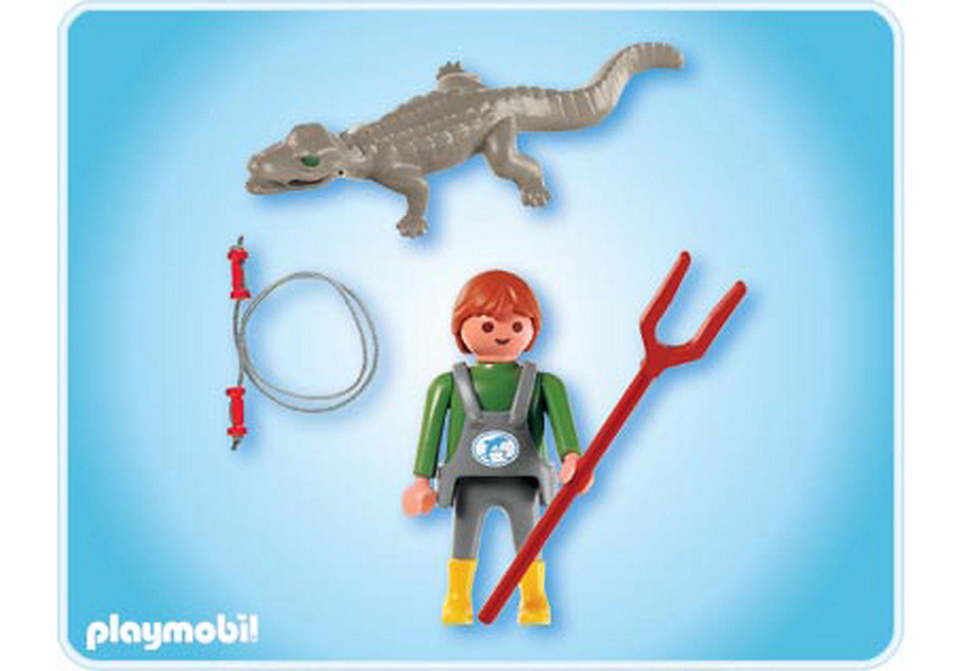 4465-A Tierpfleger mit Kaiman zoom image2