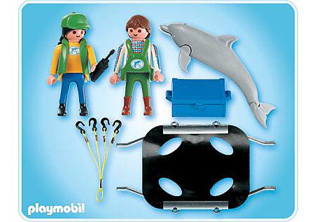 4466-A Tierpfleger mit Delfin detail image 2