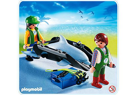4466-A Tierpfleger mit Delfin detail image 1