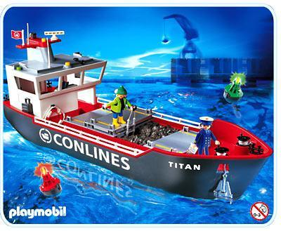 Großes Frachtschiff 4472 A Playmobil Deutschland