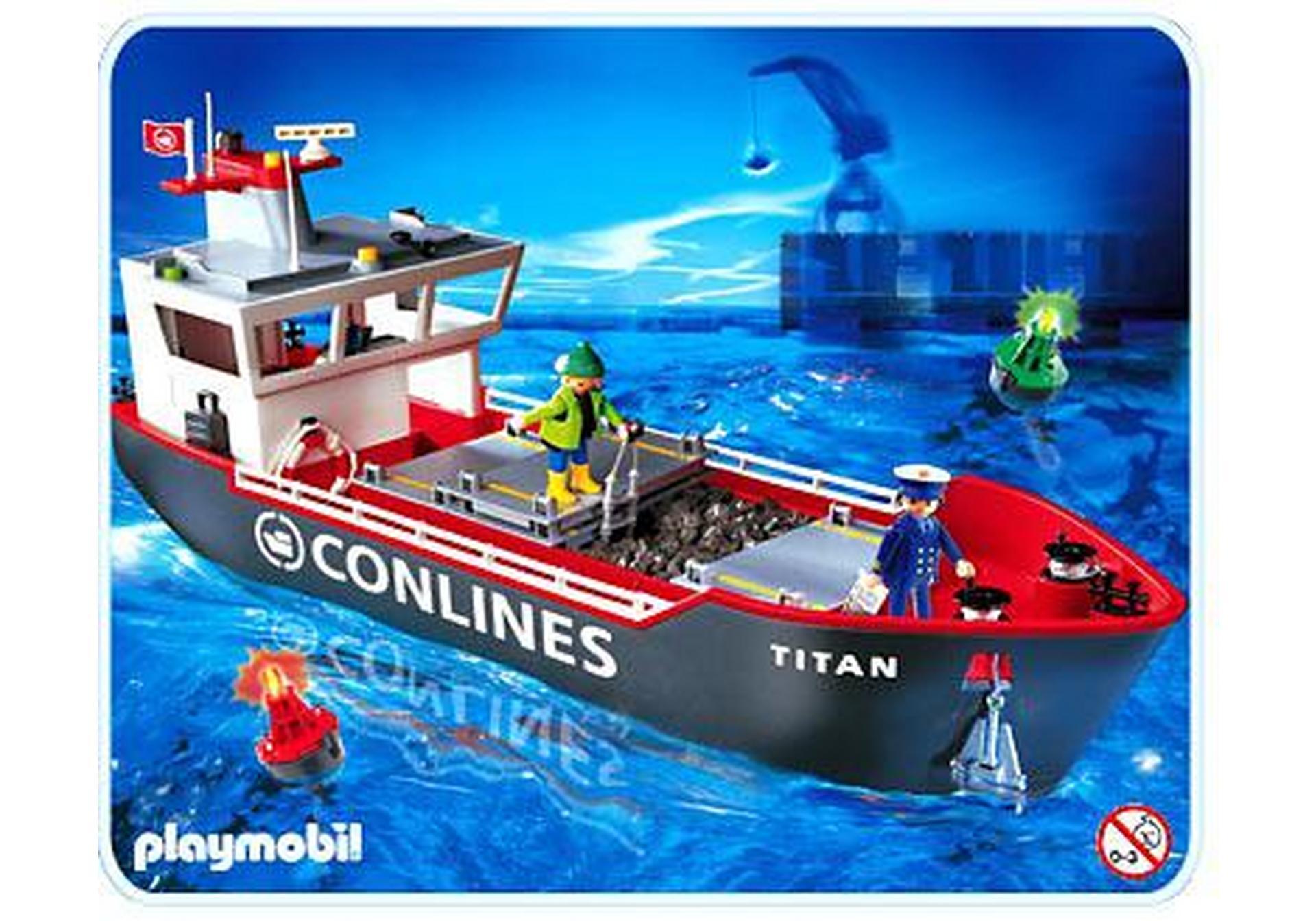 Gro es frachtschiff 4472 a playmobil deutschland for Jugendzimmer playmobil