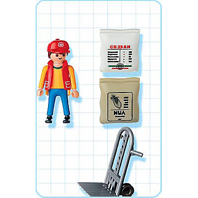 4475-A Hafenarbeiter mit Sackkarre detail image 2