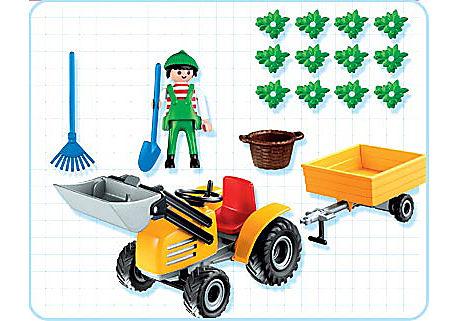 4486-A Jardinier / tracteur / remorque detail image 2