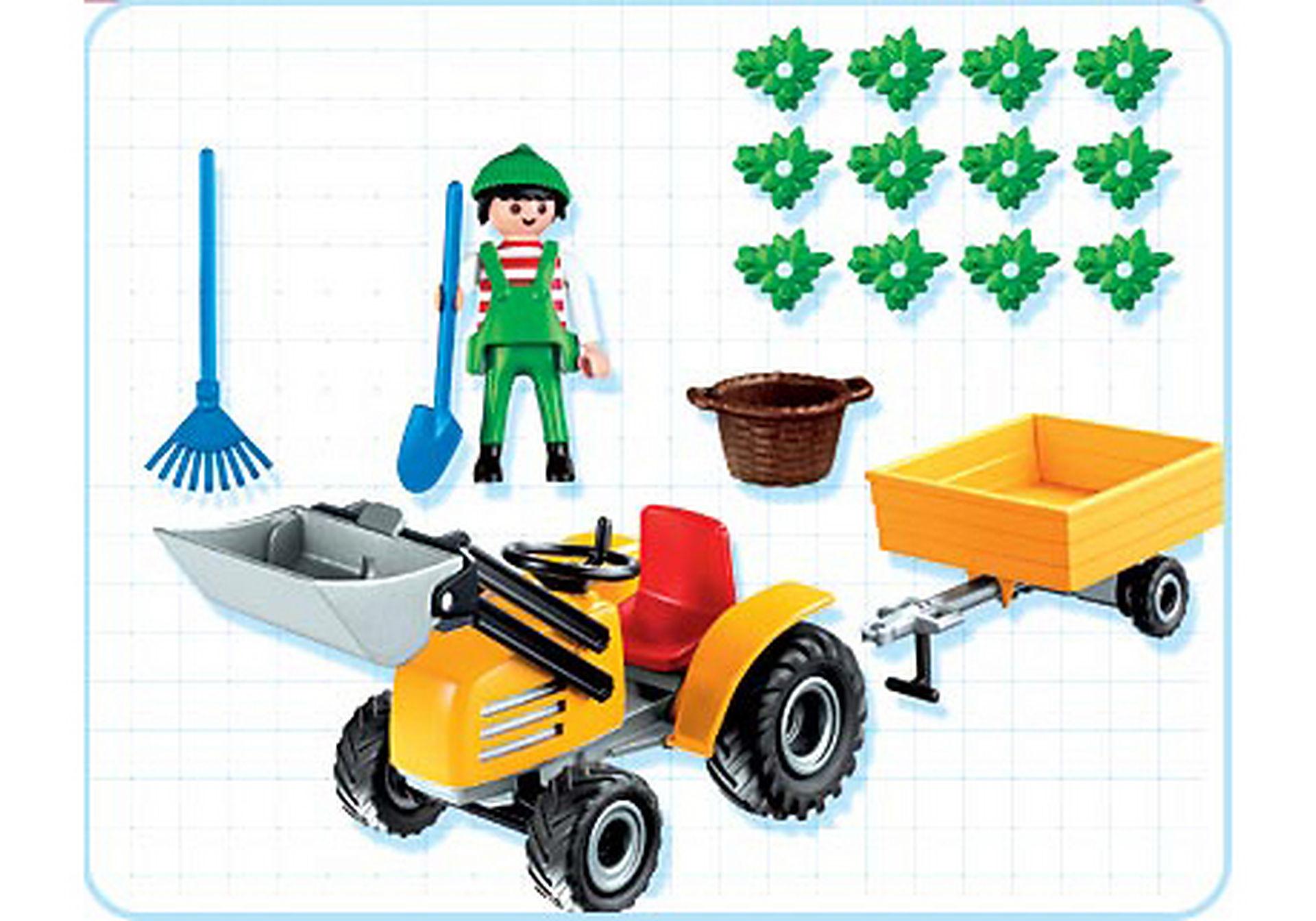 4486-A Jardinier / tracteur / remorque zoom image2