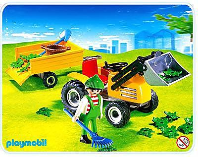 4486-A Jardinier / tracteur / remorque detail image 1