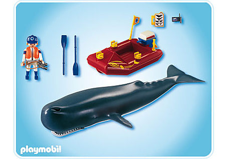 4489-A Forscher-Boot mit Pottwal detail image 2