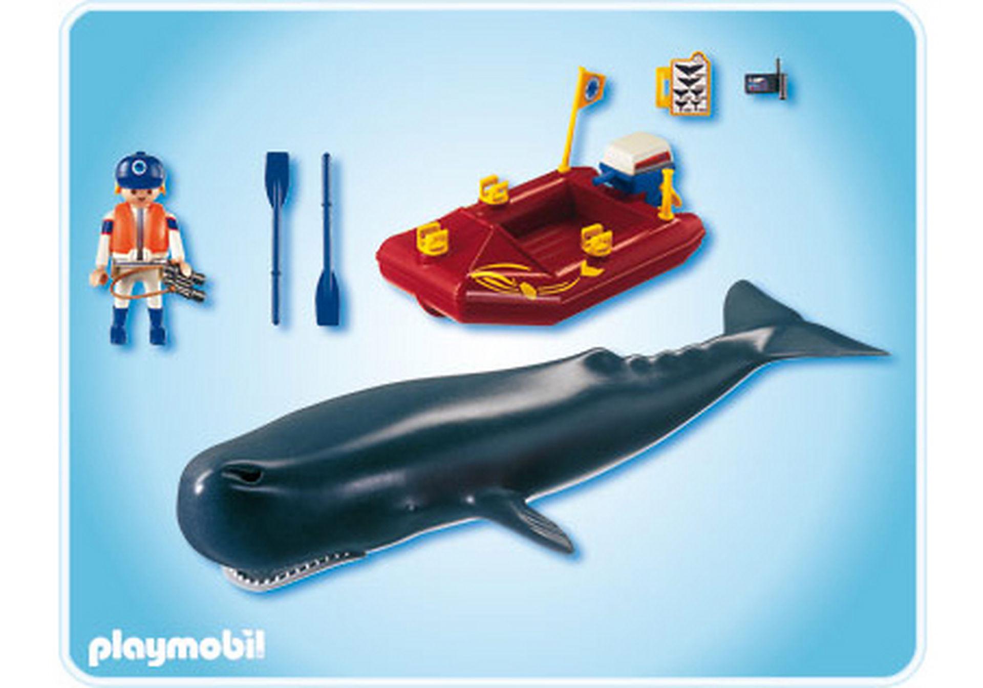 4489-A Forscher-Boot mit Pottwal zoom image2
