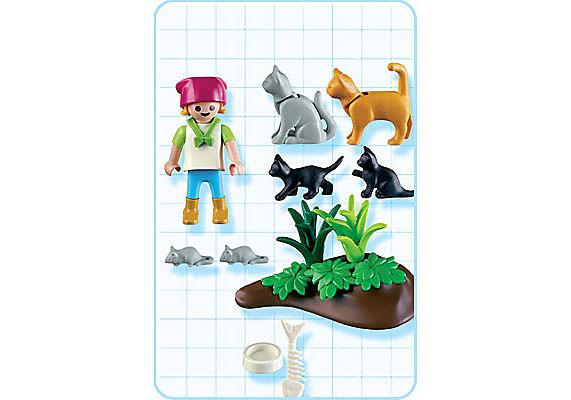 4493-A Katzenfamilie detail image 2