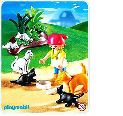 4493-A Katzenfamilie detail image 1