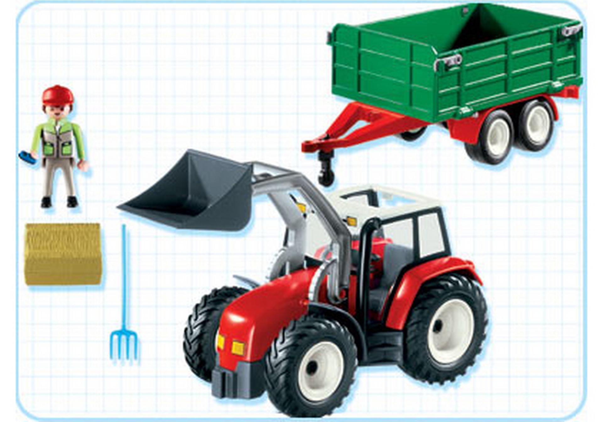Gro er traktor mit anh nger 4496 a playmobil deutschland for Jugendzimmer playmobil