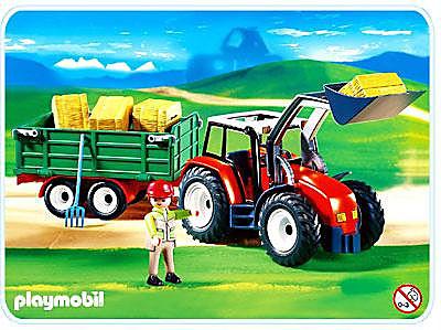 4496-A Großer Traktor mit Anhänger detail image 1