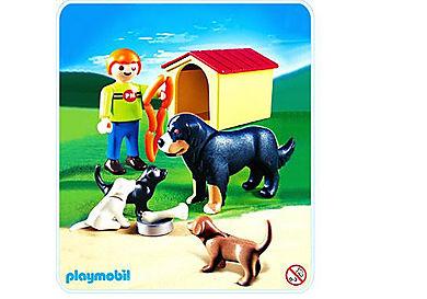 4498-A Berner Sennenhund mit Welpen