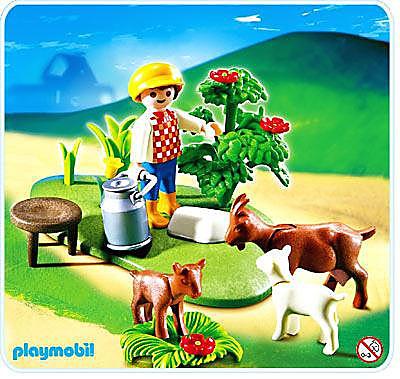 4499-A Enfant / chèvres detail image 1