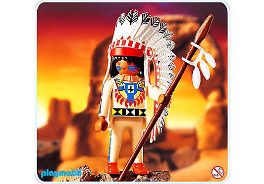 4589-A Indianerhäuptling detail image 1