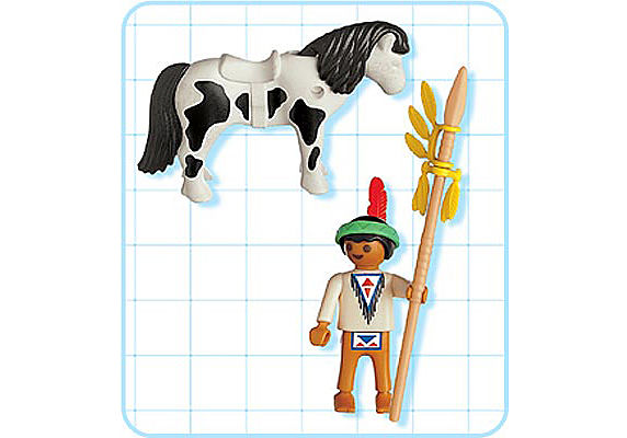 4629-A Indianerjunge mit Pony detail image 2