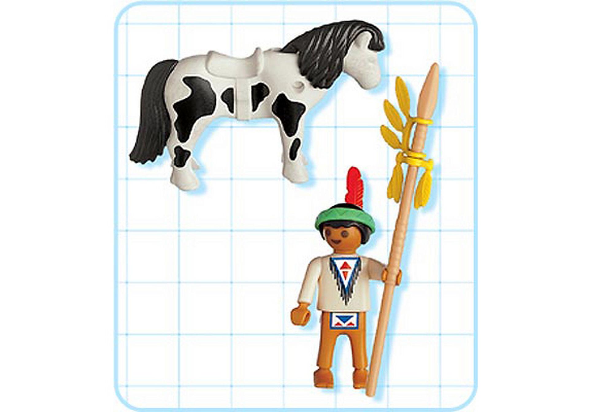 4629-A Indianerjunge mit Pony zoom image2